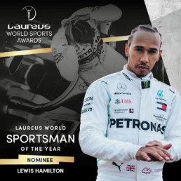 Laureus world sports awards lewis hamilton social post branding 2020 mindcorp london
