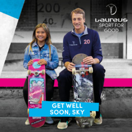 Laureus sport for good tony hawk social post branding 2020 mindcorp london